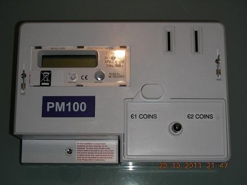 Contador eléctrico por monedas